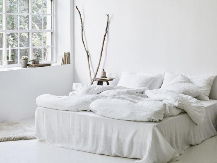 Hvidt smukt sengetøj
